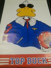 1986 Top Duck Top Gun spoof vintage pinup wall poster PBX3018