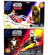 Star Wars Sote Swoop and Potf Imperial Speeder Bike with Figures Box Set of 2 .