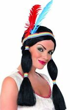 Native American Indian Pocahontas Princess Wig Fancy Dress NEW
