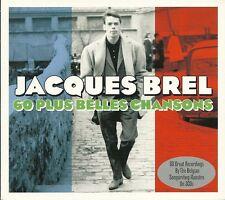JACQUES BREL 60 PLUS BELLES CHANSONS - 3 CD BOX SET - JE T'AIME & MORE