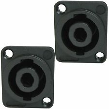 2p conductor surface mount speakon compatible speaker cabinet amp amplifier jack