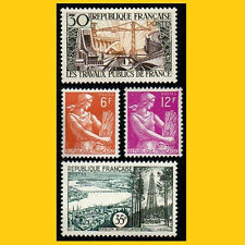 LOT 4 TIMBRES POSTE FRANCE 1957 - N° 1114 A 1118 - NEUFS **