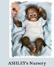 So CUTE! Baby Zachary Poseable Baby Boy Chimpanzee Monkey Collectors Doll