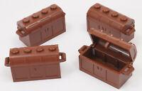 LEGO Piraten - 4 x Schatzkiste braun / Schatztruhe / Truhe / 4738a 4739a NEUWARE