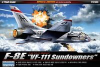 "Academy 1/72 F-8E ""VF-111 Sundowners"" Edition Military Plastic Scale Model Kit"
