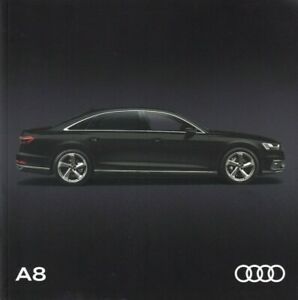 Audi A8 & A8 Long Wheelbase UK Market Brochure 62 Pages 2018 Model Year