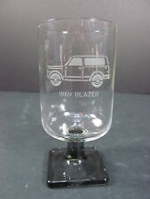 1969 Chevrolet K5 Blazer Truck Smoked Footed Etched Glass