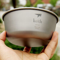 550ml Titanium Bowl Outdoor Camping Lightweight Picnic Cutlery Bowl 55g KT321