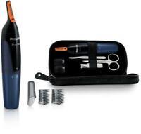 Cortapelos - Philips NT5180/15 Tecnología ProtecTube, 2 peines-guía, Azul