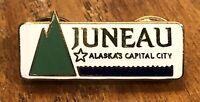 Juneau Alaska's Capital City Travel Souvenir Lapel Hat Pin Pinback ~ Alaska