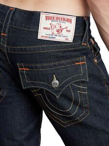 True Religion Men's Rocco Skinny World Tour Jeans w/ Flap Pockets in Body Rinse