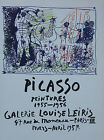 Pablo Picasso Lithograph Galerie Louise Leiris First Edition 1957