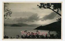 Vintage RPPC Postcard Hong Kong China 1920s Sunset Harbor Real Photo Photograph