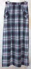 """Prophecy Maxi Skirt Green Tartan Plaid  26"""" Waist Steampunk"""