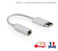 USB Type C à 3,5 mm Jack stéréo Aux casque écouteur adaptateur câble cordon
