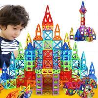 110 PCS 3D Magnetic Building Tiles Sets Block Kids Construction Educational Toys