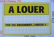 2 Panneaux ,Adhésif ou Visser Signalisation en PVC,,274 x 190 mm, A LOUER