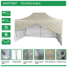 Quictent Pyramid-roof 10'x15' Waterproof Pop Up Gazebo Party Tent Canopy Beige