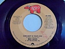 Bee Gees How Deep Is Your Love / Can't Keep A Good Man Down 45 1977 Vinyl Record