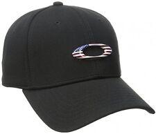 Oakley Men's Tincan Cap Black American Flag Large/X-Large