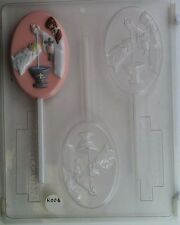 BABY BAPTISM LOLLIPOP CLEAR PLASTIC CHOCOLATE CANDY MOLD R006