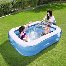 NEW Bestway Inflatable Kid Family Swimming Pool Rectangular 201x150cm #54005
