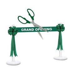 """36"""" Green/Silver Ceremonial Ribbon Cutting Scissors Deluxe Grand Opening Kit"""