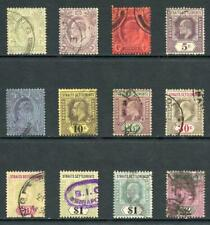 Straits Settlements SG127/37 1904 Set to 2 dollars