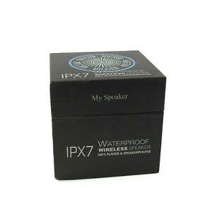 Waterproof LED Bluetooth Wireless Speaker IPX7 - Blue