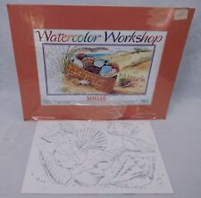 Cape Shore Watercolor Workshop Kit Shells 6 Scenes w Mat