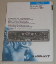 Notice d'instructions BLAUPUNKT AUTORADIO Modena cd51, Munich cd51 stand 03/2001