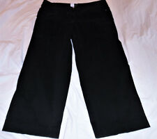 6d7df6bf517 JUST MY SIZE 24W 22W EBONY BLACK JEANS COPPER RIVETS STRAIGHT LEG STRETCH  FLAP P