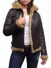 Ropa de mujer de piel talla M color principal marrón
