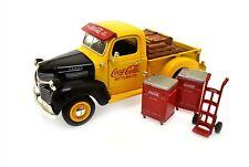 Coca Cola 1947 Dodge Pick Up Truck Bank Bottling Delivery Truck & Coolers Crates