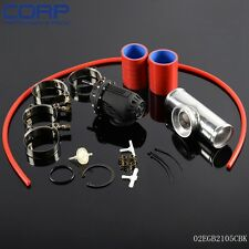 """SQV Blow Off Valve BOV IV 4  +2.5"""" Flange Pipe  +Clamps kit red Silicone Hose"""