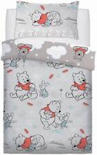 Official Disney Winnie The Pooh Reversible Grey Single Duvet Cover Bedding Set