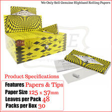 Highland Cosmic King Size Rolling Papers & Astrological Tips - One Full New Box