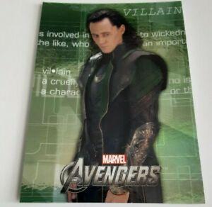 2012 Avengers assemble Heroes Evolve E-59 foil card Loki