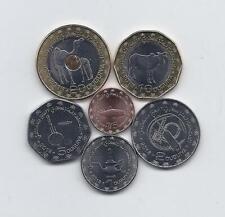 MAURITANIA 2017 - 2018 6 COINS UNCIRCULATED SET 1/5 1 2 5 10 & 20 OUGUIYA