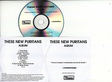 THESE NEW PURITANS Hidden UK 11-tk numbered/watermarked promo test CD