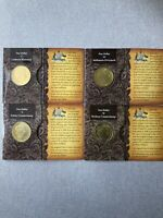 "2008 -100 Years Of Australia Original Coat Arms One Dollar ""UNC""Coin Set C,S,M,B"