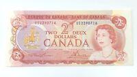 1974 Two 2 Deux Dollar Canada Prefix UC Canadian Uncirculated Banknote G889