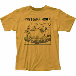 Dead Milkmen Big Lizard T Shirt Mens Licensed Rock N Roll Music Band Tee Gold
