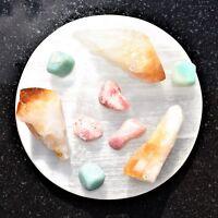 Selenite Disc Polished Flat Crystal Charging Station POWERFUL ZENERGY GEMS™