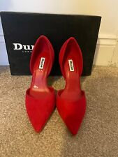 Cerise Pink/Red Court Shoe High Heels By Dune - Size 37/4