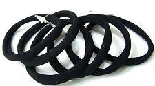 Élastiques cheveux lot de 6 attaches sans métal coloris noir fabriqué en Italie