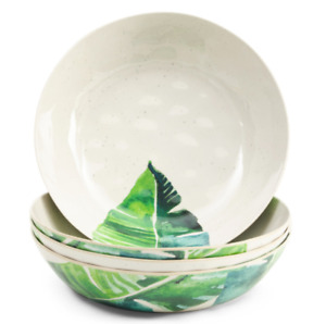 Melamine Tommy Bahama Tropical Palm Tree Pasta/Salad Bowls Indoor Outdoor Use
