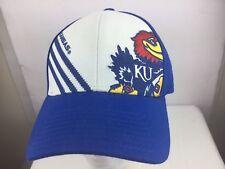 Blue KU University of Kansas Adidas baseball hat cap embroidered S/M