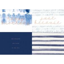 """Nuevo Stamperia 12/"""" X 12/"""" Cojín de papel Tierra Azul"""