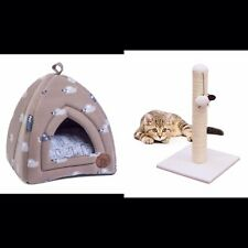 Cat Kitten Offer Petface Cat Igloo Bed Angry Mouse  Bedding And Mouse Scratcher